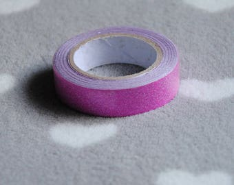 Washi tape, duct tape pink glitter paper