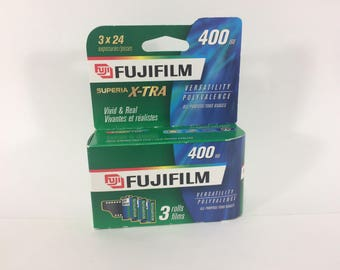 Fuji Film Superia X-TRA 35mm Exp 2008 Unopened 400 ISO Speed 24 Expo Roll x 3