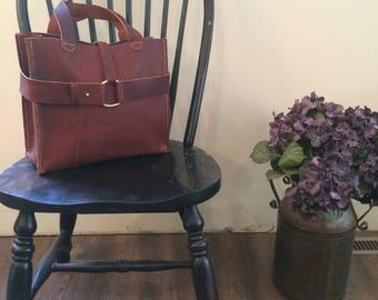 Emeny Dark Leather Handbag