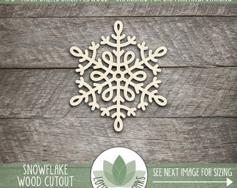 Snowflake Holiday Ornament, Laser Cut Wood Snowflake, Holiday, Winter Wedding, Party Decorations, Wood Snowflake