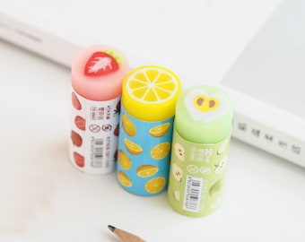 Cute Fruit Eraser, Kawaii Eraser, Pink Eraser, Yellow Eraser, Green Eraser, Fruit Eraser, School Eraser, Kids Eraser, Cute Kids Eraser