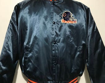 Vintage Chicago Bears Chalk Line Bomber Jacket XL