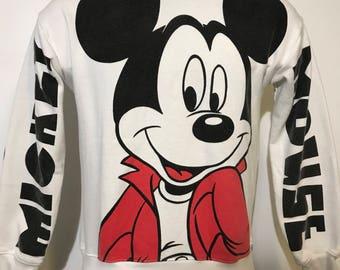 Vintage All Over Print Mickey Crewneck Sweatshirt S