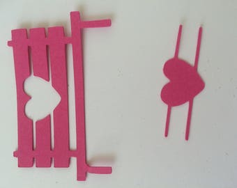 BENCH heart cutout for scrapbooking card making...
