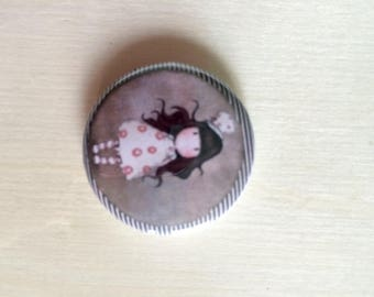 Back flat 3 cm GORJUSS badge