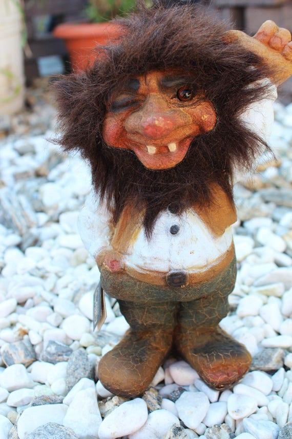 Vintage Original Norwegian Large Ny Form Troll Figurine
