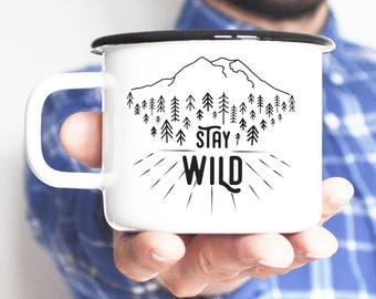 Camping Mug Travel Mug Enamel Mug Coffee Mug Adventure Mug Feminist Gift Enamelware Camping Gift For Him Travel Gift Gift For Man Adventure
