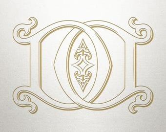 Wedding Printable Monogram - DD - Printable Monogram - Vintage