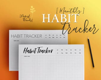 Printable Habit Tracker -- Bullet Journal Style Planner Page -- Goals -- Wellness -- Habits -- Business -- For A5 Filofax pages