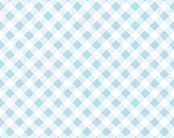Sale Sew Cherry 2 Gingham in Aqua from the Sew Cherry 2 Collection by Lori Holt for Riley Blake