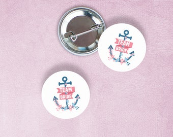 Team Bride sailor badges