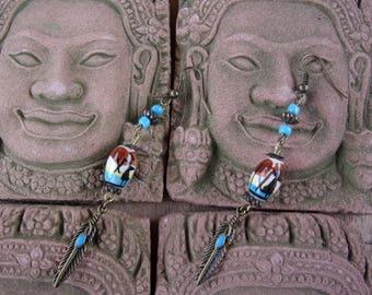 "Ethnic earrings ""pisco"" model unique"