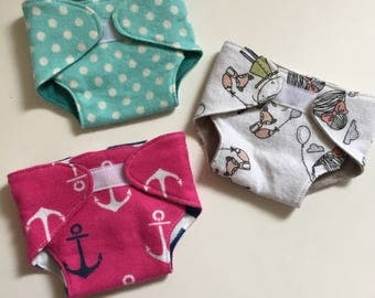 Flannel Baby Doll Diapers