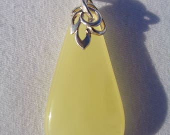 NATURAL 100% Real BALTIC AMBER Pendant Royal White Butterscotch Custom Decorative 925 Sterling Silver 5.9 grams