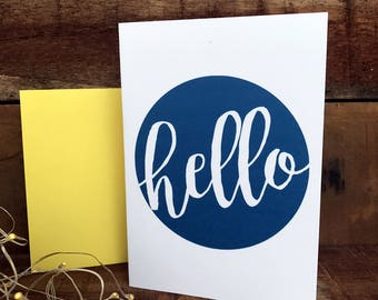 Hello, any occasion card, greeting card