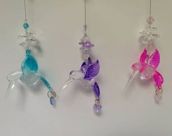 Glass hummingbird Sun catchers