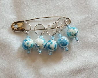 Ring Stitch Markers - Ice Queen