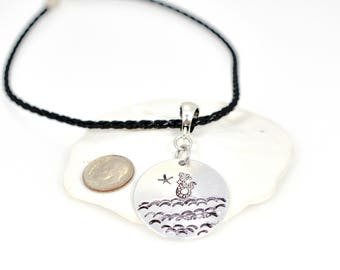 Mermaid Necklace, Ocean Lovers Gift, I'm really a Mermaid, Hand stamped Necklace, Unique Gift for Women, Mermaid Secret Siren Necklace,