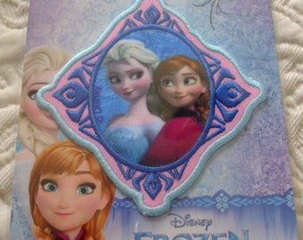 fusible frozen Elsa patch transfer embroidered patch