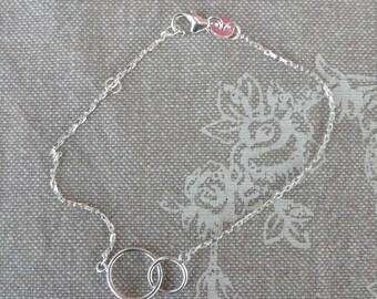 "Silver fine Valentine ""Duo"" bracelet..."