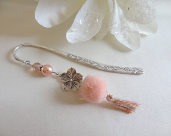 Bookmark tassel silver rose/accessory readers book/book/reading/romantic/rose/gift