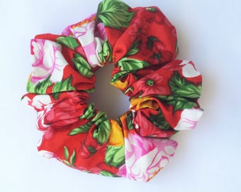 Red Rose Scrunchy Handmade