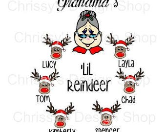 Mrs Clause reindeer svg file / grandmas reindeer svg / rudolf svg / christmas grandma svg / Merry Christmas cut file / Christmas clip art