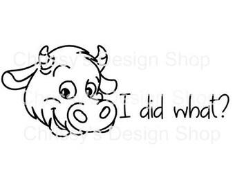 Cow line art svg cut file / farm cow svg / funny cow svg / dxf / eps / cow clipart / png / clip art / farming svg / moo cow silhouette