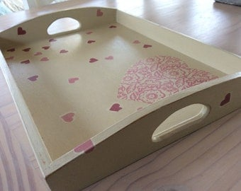 Pink Hearts Tray
