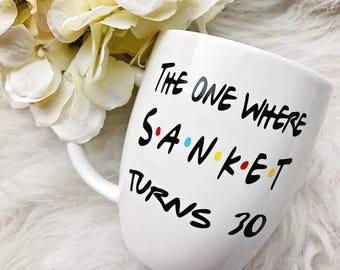 The One Where Turns 30 Glitter Dipped Coffee Mug//The One Where Coffee Mug//The One Where//30th Birthday Coffee Mug//30th Birthday