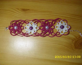 handmade tatted lace bracelet