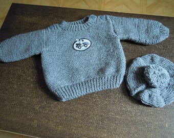 sweater for baby size 9 month gray