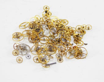 Small watch round watch movement watch parts Industrial Jewellery steampunk parts gears and cogs watch jewelry making vintage components diy