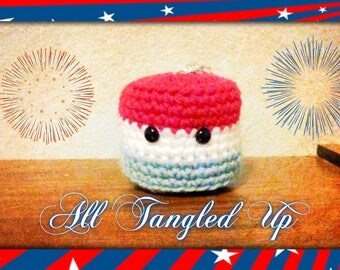 4th of July Kawaii Marshmallow Key chain *LIMITED EDITION*