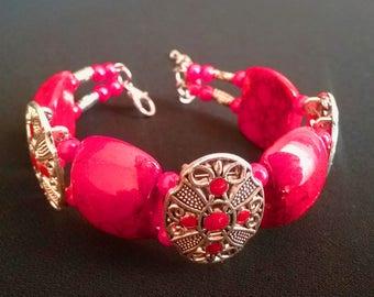 bangle bracelet Coral Red