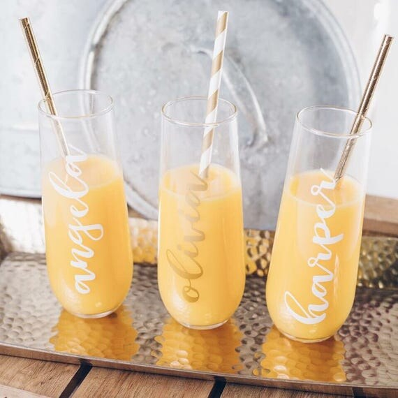 Rose Gold Gold Or White Custom Champagne Flutes Champagne