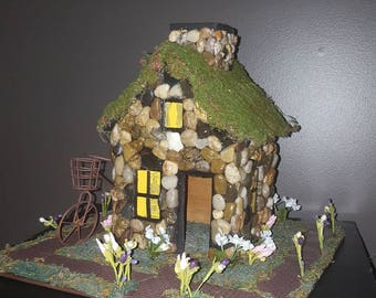 Adorable stone Fairy home