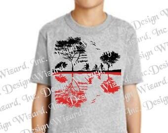 Stranger Things Dual Realities Landscape T-Shirt, Tee, Shirt
