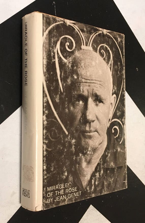 Miracle of the Rose by Jean Genet white black shabby chic classic grove press book (Hardcover, 1966)