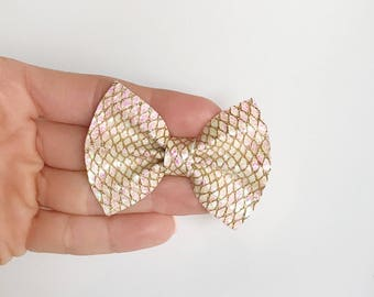 Baby Girl Handmade bow, alligator clip, nylon headband, pink, shimmer, sparkle