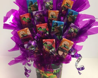 Teenage Mutant Ninja Turtle Candy Bouquet/Centerpiece