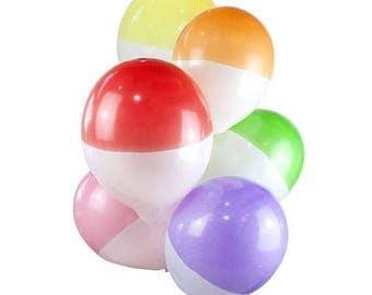 Rainbow Brights Dipped Balloons