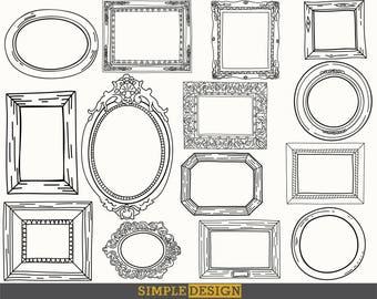 Doodle frames, Frame clipart, Digital frames, Scrapbooking, Frame clip art, Doodle clipart, Hand drawn frames, Digital frame,  Hand drawn.