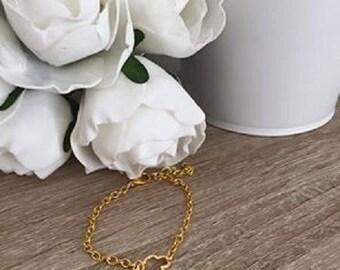 Small cloud plated bracelet 16cm