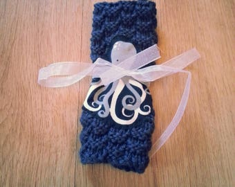 Octopus Washcloth with Hook for Hanging - 100% Cotton