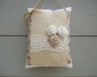 Decorative door pillow fabric and shabby roses