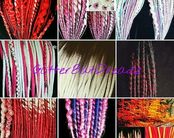 Custom Synthetic Dreads, Rave, Festival, Cosplay, Goth, Pastel, Cyber