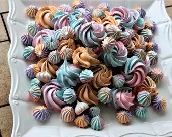 Meringues, Rainbow Meringues, Custom Color Meringues