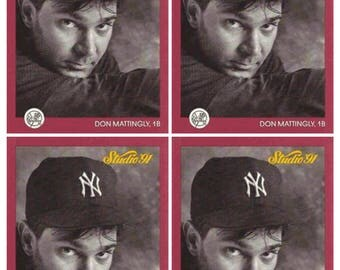 4 - 1991 Studio #97 Don Mattingly Baseball Card Lot