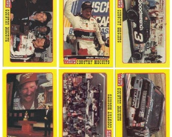 1991 Traks Mom-N-Pop's Biscuits Dale Earnhardt 6 Card Set
